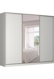 Guarda-Roupa Casal Com Espelho Tunas Iii 3 Pt 3 Gv Branco