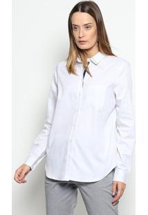 ... Camisa Em Flamê Com Bolso - Brancalacoste e6c85c0a23