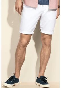 Bermuda Masculina Em Tecido De Algodão E Bolso Faca