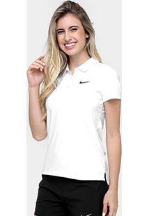 ... Camisa Polo Nike Court Feminina - Feminino-Branco+Preto 75ab6b1413838