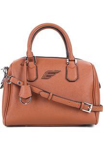 Bolsa Shopper Ellus Bowling Bag Feminina - Feminino-Caramelo