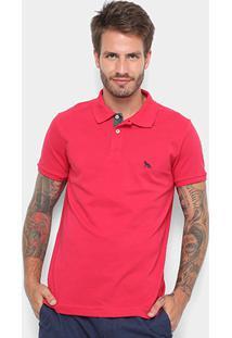 Camisa Polo Acostamento Básica Masculina - Masculino-Vermelho