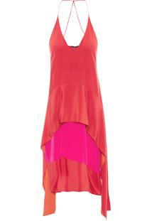 Vestido Cecilia Liso - Vermelho