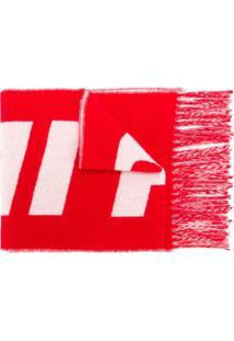 Ami Echarpe Com Logo - Branco