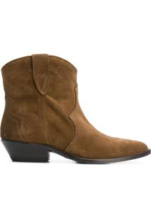 The Seller Ankle Boot Bico Fino - Marrom