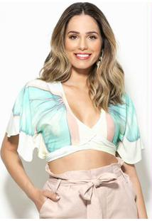 Blusa Cropped Caribe Off White