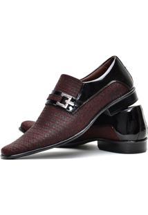 Sapato Social Gofer Envernizado Vinho