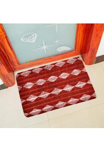 Capacho Carpet Triangulos Vermelho