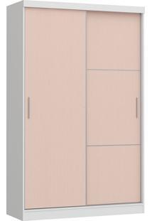 Modulo Com 2 Portas E 2 Gavetas Infinity 3825A-Castro Móveis - Branco Tx / Rosa Blush