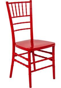 Cadeira De Jantar Tiffany Vermelha