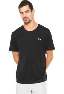 Camiseta Oakley Reta Logo Preta