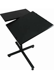 Mesa Notebook Altura Ajustável Tampo Em Mdf Reclinável