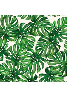Papel De Parede Costela De Adão Verde E Branco (950X52)