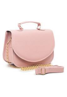 Bolsa Transversal Mini Bag Carmelo Shoes Lisa Rosa