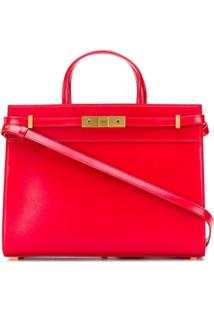 Saint Laurent Manhattan Small Shopping Bag - Vermelho