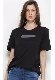 Camiseta Forum Together We Grow Feminina - Feminino-Preto