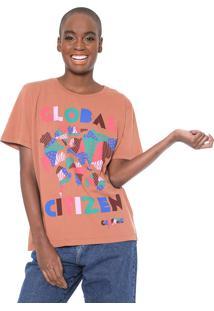 Camiseta Cantão Global Citizen Caramelo