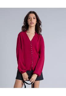 Camisa Manga Longa Ampla Bordo Helado - Lez A Lez