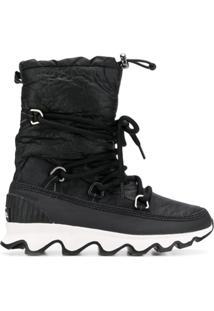 Sorel Ankle Boot Matelassê - Preto