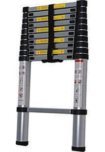 Escada Telescópica Alumínio 11 Degraus, Worker, 428175, Vermelho
