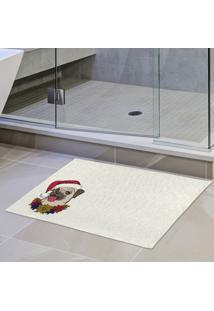 Tapete De Pano Para Banheiro Pug De Touca Único