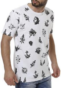 Camiseta Manga Curta Masculina Local Branco