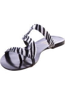 Rasteira Em Z Butique De Sapatos Animal Print Zebra