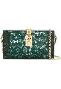 Dolce & Gabbana Clutch Modelo 'Dolce' - Verde