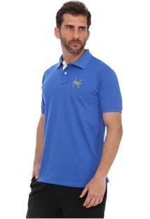 Camisa Polo England Polo Club Casual Taco - Masculino-Azul Royal