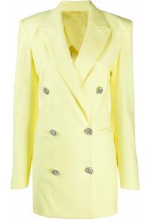 The Attico Vestido Blazer Com Abotoamento Duplo - Amarelo