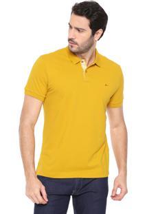 Camisa Polo Aramis Reta Logo Amarela