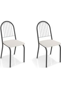 Conjunto Com 2 Cadeiras De Cozinha Noruega Preto E Branco