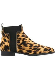Tod'S Ankle Boot Animal Print - Marrom