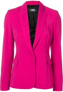 Karl Lagerfeld Blazer De Alfaiataria - Rosa