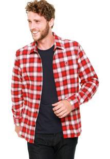 Camisa Forum Xadrez Vermelha