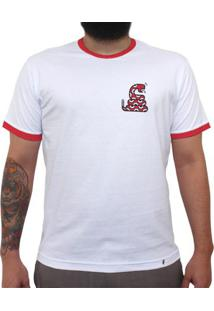 Falsa Coral - Camiseta College Masculina Golas Vermelhas