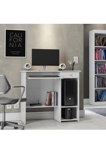 Mesa Para Computador Patrimar Móveis Marina New 1 Gaveta Branca