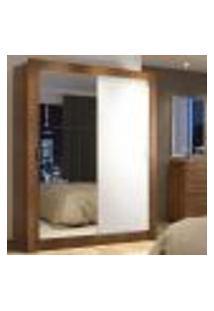 Guarda-Roupa Solteiro Madesa Denver 2 Portas De Correr Com Espelho