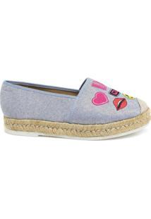 Sapatilha Jeans Patches Zariff Shoes Feminino. - Feminino-Azul