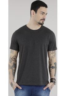 Camiseta Básica Cinza Mescla Escuro
