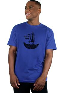 Camiseta Bleed American Outta Here Azul