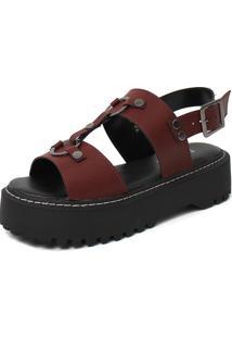 Sandália Damannu Shoes Yasmin Bordô