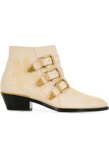 Chloé Ankle Boot 'Susanna' - Neutro