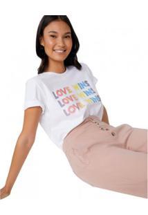 Camiseta Amaro Love Wins Feminina - Feminino