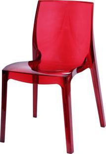 Cadeira Femme Fatale Vermelho Or Design