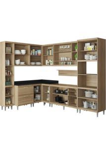 Cozinha Compacta Multimóveis Sicília 5802.132.132.815.610 Argila Se