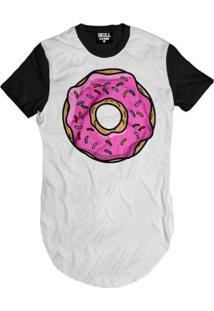 Camiseta Longline Donut Pink Masculina - Masculino
