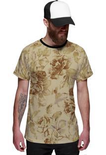 Camiseta Di Nuevo Verão 2019 Floral Amarela