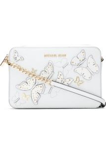 Michael Michael Kors Bolsa Tiracolo Butterflies - Branco
