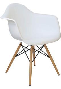 Cadeira Facthus Charles Melbourne Com Base De Madeira Branca